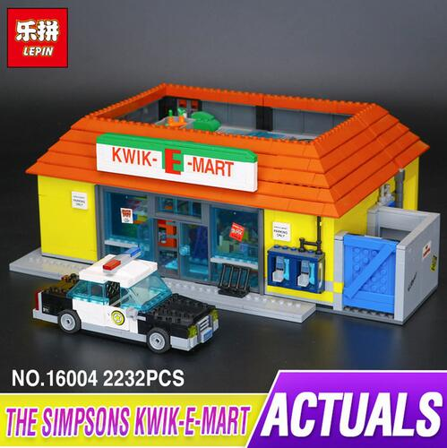 New LEPIN 16004 2232Pcs the Simpsons KWIK-E-MART Action Model Building Block Bricks Compatible 71016 for Boy children gift платье french connection french connection fr003ewurt11