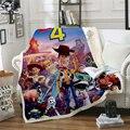Форки Новая история игрушек 4 ходячие Игрушки Шериф Вуди одеяло 3D принт шерпа одеяло на кровать домашний текстиль Сказочный Стиль-1
