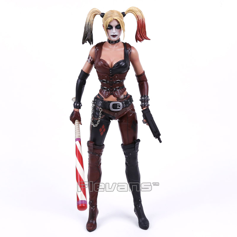 NECA Batman Arkham City Harley Quinn 1/4 Scale Action Figure Collectible Model Toy 43cm EMS Free Shipping neca dc comics batman arkham knight batarang replica action figure with light collectible model toy