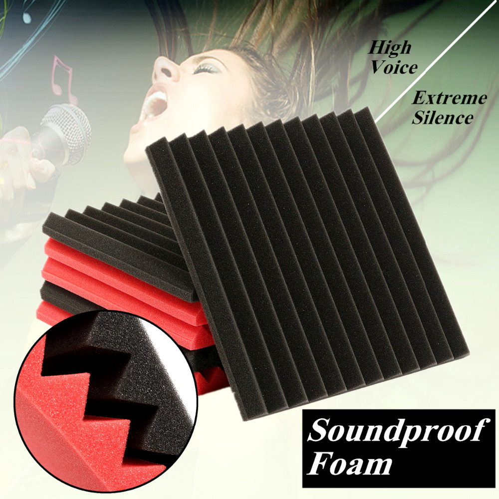 6pcs 30x30cm Soundproofing Foam Acoustic Studio Absorbing Wedge Foam Sound-Absorbing Noise Sponge Foams Suitable For KTV Studio water absorbing oil absorbing cleaning cloth