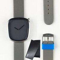 Women Watches Top Brand Simple Fashion Quartz Watch Men Business Casual Black Ladies Watch Leather Ultra