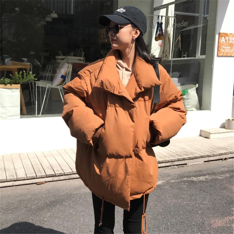 Chaud Loisirs Lâche Coton D'hiver Femmes Épaississement Colour black Veste Manteau Apricot Court Survêtement Parkas Femme Mode Nouvelle 2018 Vs040 caramel RFq4pW47