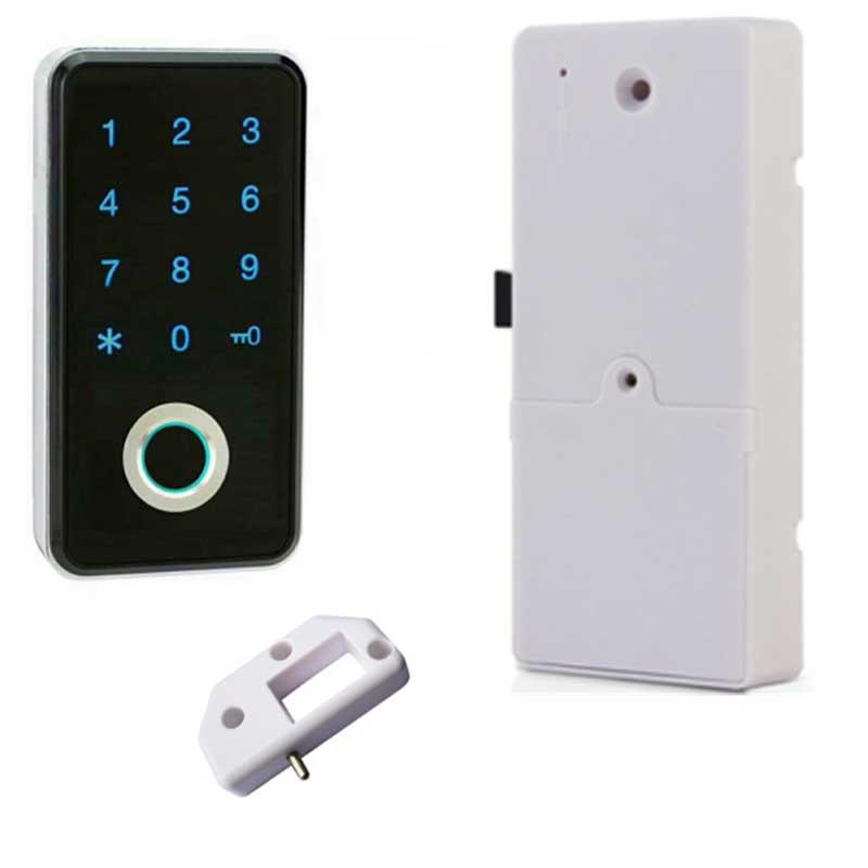 Pequeno Senha Keyless Eletrônico Inteligente Mini Biométrico de impressões digitais Do Armário/Porta/Armário/Gaveta Locker de Bloqueio Para Casa/ escritório/Ginásio