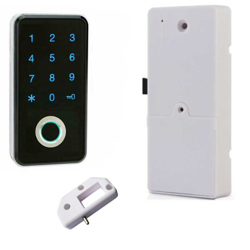 Petit mot de passe électronique intelligent sans clé Mini biométrique d'empreintes digitales armoire/porte/armoire/tiroir casier serrure pour la maison/bureau/Gym