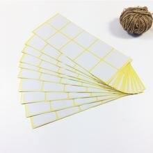 100 шт Новый Белый цвет квадратный дизайн крафт пустой уплотнительный