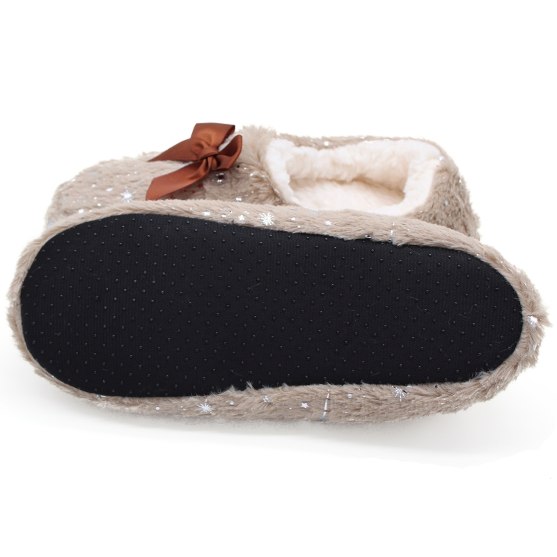 STONE VILLAGE Large Size Bow Snowflake Home Slippers Think Plush Warm Women Slippers Shoes Indoor Slippers Shoes Women 5