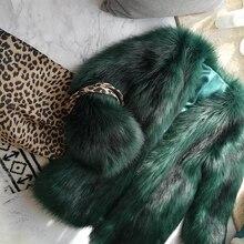 New Style High-end Fashion Women Faux Fur Coat 17S46