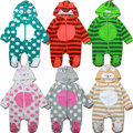 Newborn Autumn Winter Jumpsuit Baby Clothes Cartoon Romper Boy and Girl Costume Fleece Clothes bebes Long Sleeved Rompers