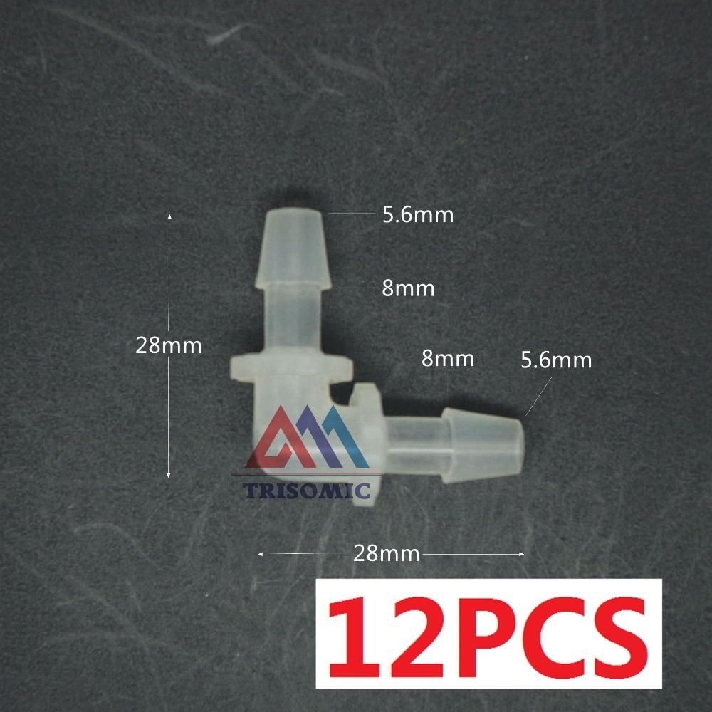 Angemessen 12 Stücke 5,6mm Ellenbogen Equant Stecker Gleich Rohr Joiner Material Pp Kunststoff Montage Aquarium Airline Aquarium Rohrverbindungsstücke