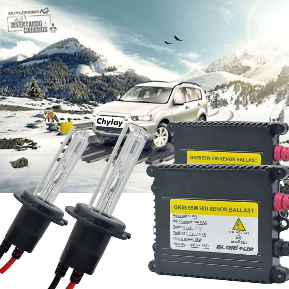 1 sæt xenon H7 AC 55W HID Kit H1 H4 H11 H8 H9 Slim Ballast 4300K - Billygter - Foto 1