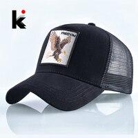 Модные Орел Вышивка бейсболка мужская кепка женская Snapback хип-хоп кепки Лето Обувь дышащей сеткой солнца шапка Мужская Уличная бейсболки