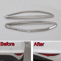 ABS Rear Tail Fog Light Lamp Frame Decoration Cover Molding Trim 2 Pcs Pair Fit For