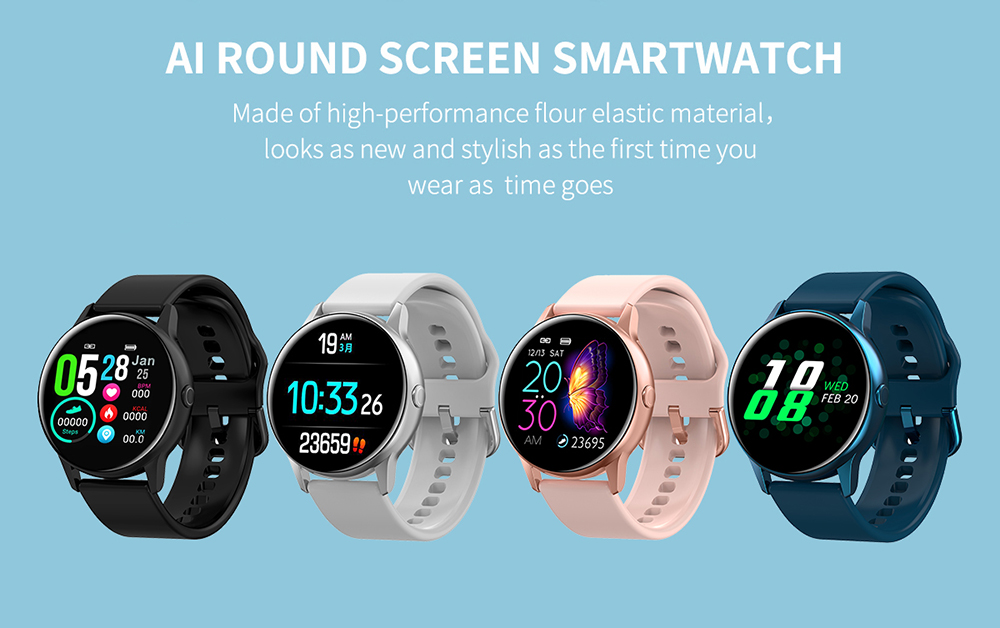 Women IP68 Waterproof Smart Watch for iPhone xiaomi LG with Bluetooth and Heart Rate Monitor Fitness Tracker 9