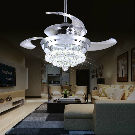 Crystal fan lights 100 240v invisible ceiling fans modern fan lamp crystal fan lights 100 240v invisible ceiling fans modern fan lamp for living room aloadofball Choice Image
