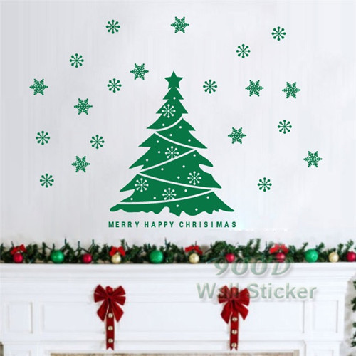 Nice Christmas Tree Quote Wall Sticker, DIY Removable Wall Decal, Home  Decoration Wall Art , Part 23