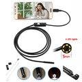 6 LEDs 5 MM Lente Del Endoscopio Del USB Cámara IP67 A Prueba de Agua Serpiente Tubo Tubo de Vídeo USB MINI Cámara de inspección Boroscopio 2 M para Android