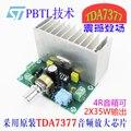 XH-M341 двухканальной 2 музыкальный сигнал усилитель совет TDA7377 усилитель мощности плата 12 В мощность 35 Вт * 2