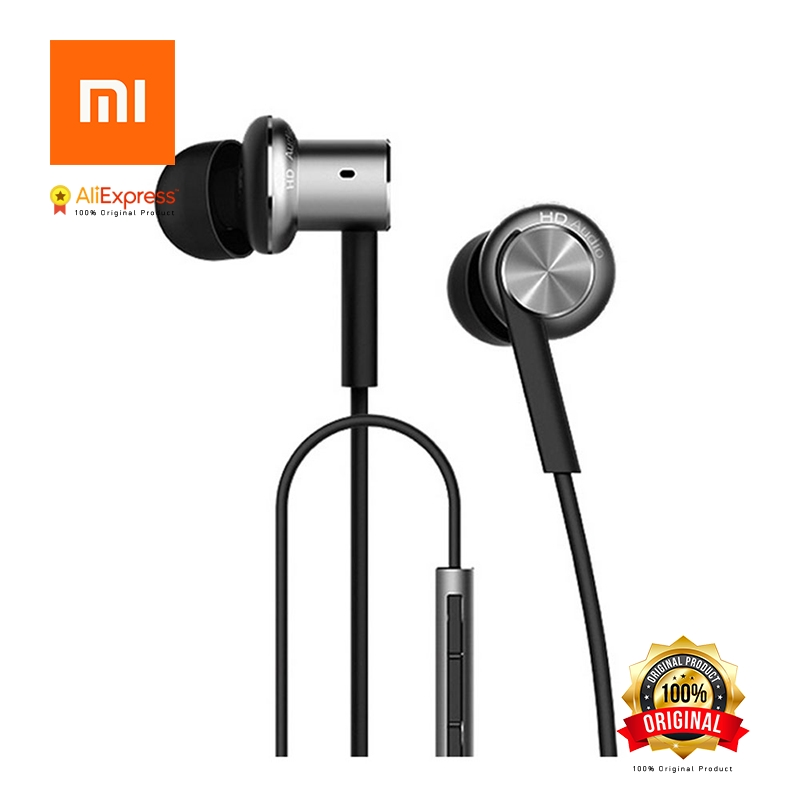 Original Mi Xiaomi Hybrid Earphone In-Ear 3.5mm Stereo Earphones With Mic Earphone Silver Gold For Android iOS For MP3 PC 10pcs free shipping 216 0707005 216 0707009