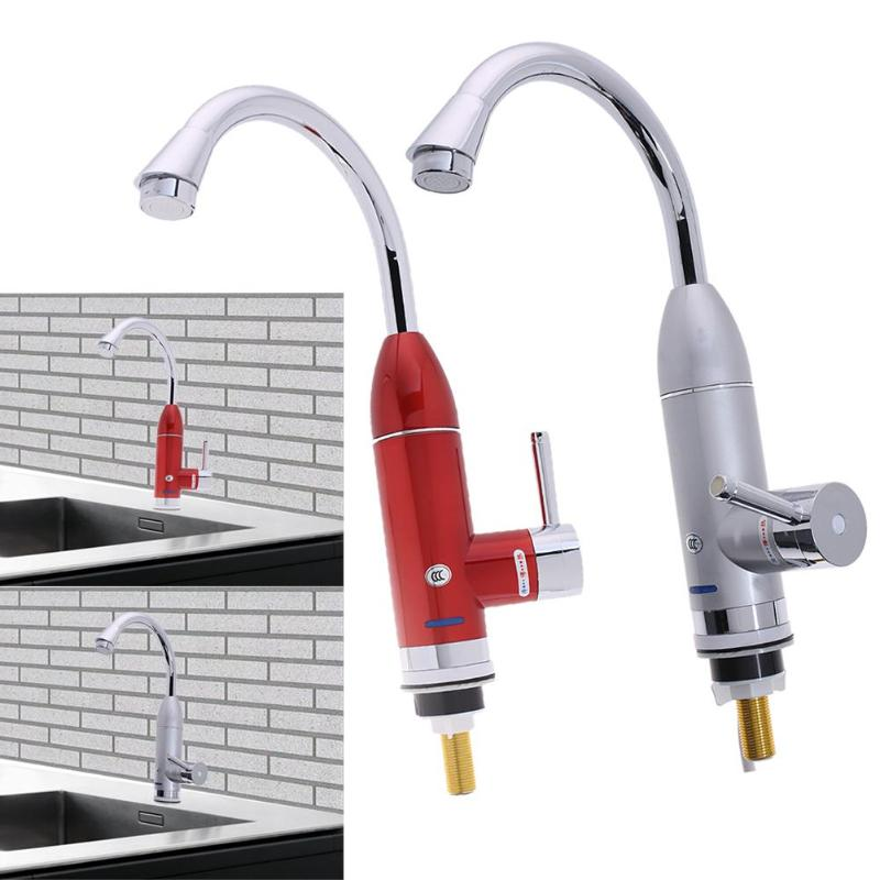 Electric Faucet Tap Hot Kitchen Water Fast Heater Instant Hot Water Tap For Bathroom Electric Water Faucet 3000w gwai duel handle 3 second instant water heater 360 degree rotatable pipe instant hot water faucet fast heat water tap drs x30f6
