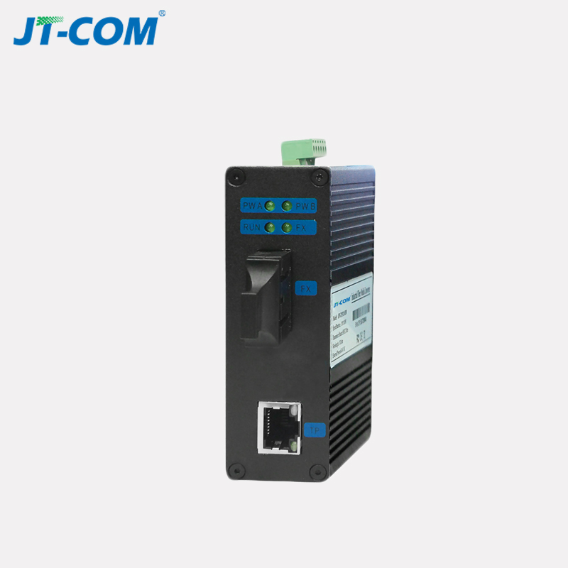 1pair 10/100M Unmanaged Industrial Fiber Optic Media Converter 40km SC Connector Single Mode Duplex Fiber Ethernet Switch 1 RJ45