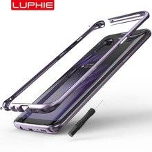 لسامسونج غالاكسي S10 زائد الوفير الحال الأصلي Luphie منحني المعادن لسامسونج S10 S10e رقيقة جدا الألومنيوم غطاء إطاري
