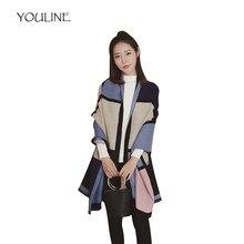 Youline 2018 bufanda de lujo de marca de invierno de las mujeres poncho  oversize manta Cachemira c0c351d2ef4