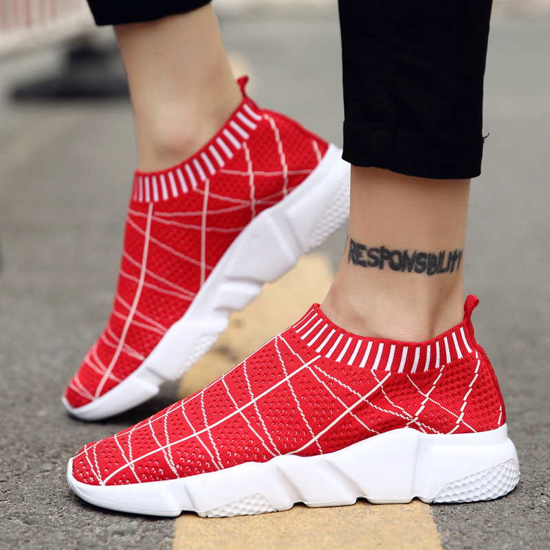 2017 new summer new mens casual shoes tide breathable flying Korean version of the young mens fashion shoes