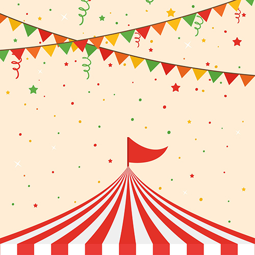 Colour Flag Rainbow Polka Dot Circus Striped Theme Party background Vinyl cloth Computer printed wall backdrop