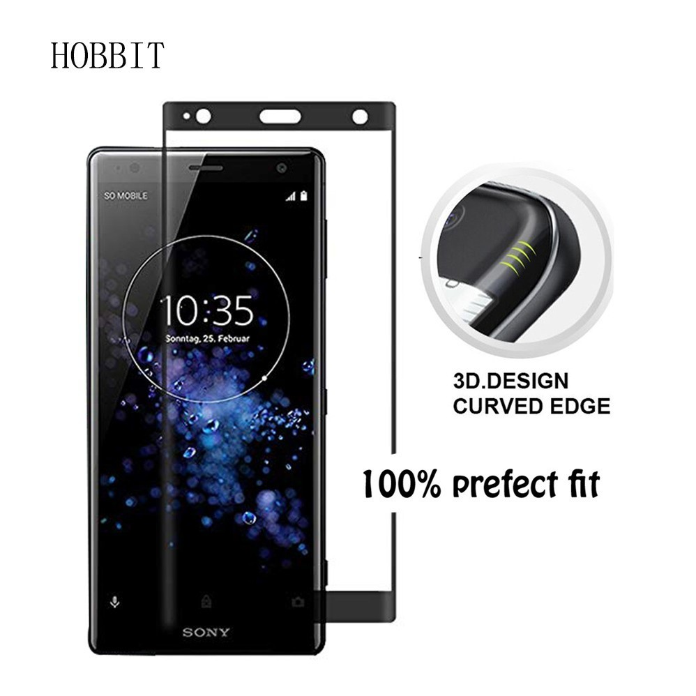 0 3MM 9H 3D Curved Full Tempered Glass For For Sony Xperia XZ3 XZ4 XZ4 Compact Screen Protector Transparent TPU Back Cover Case in Fitted Cases from Cellphones Telecommunications