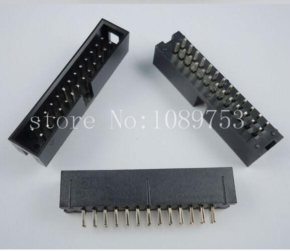 100pcs IDC Box header DC3 DC3-26P 2x13 pins 26P 2.54mm Pitch 2 54mm pitch idc box header dc3 16p dual row 16 pins jtag connector 50pcs