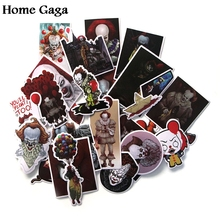 Homegaga 24pcs Stephen Kings IT Sticker for Laptop Skateboard Motorcycle Home Decoration Styling Vinyl Decals Cool DIY D1193