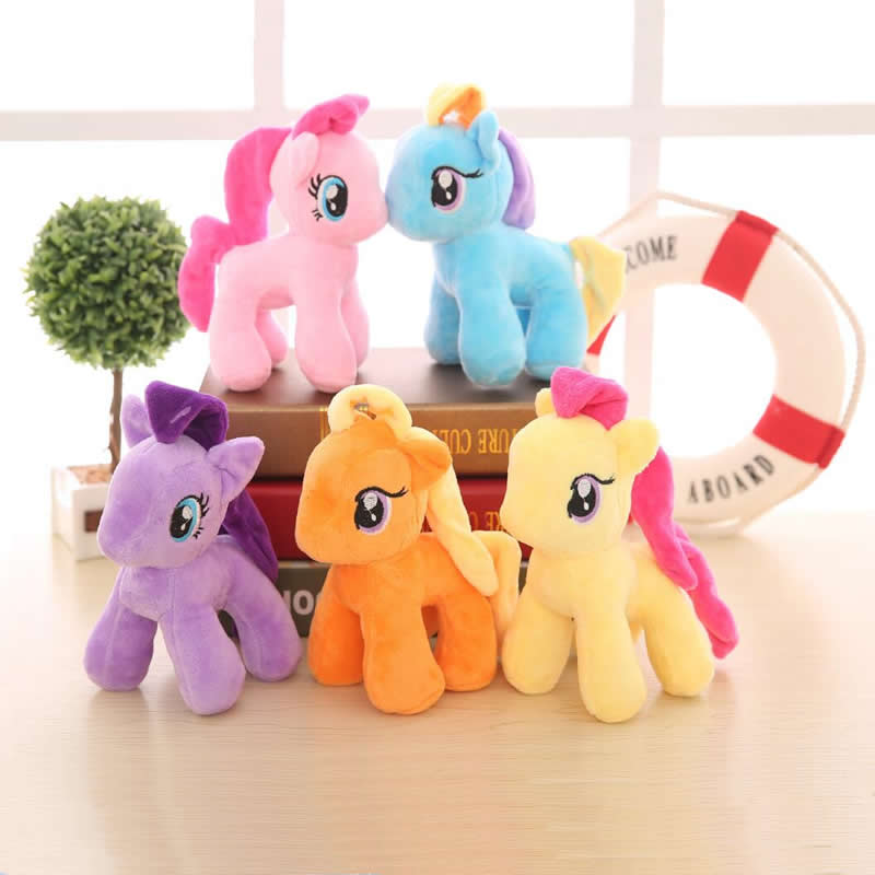Detail Feedback Questions about 2018 new Ty Beanie Boos Rainbow Little Horse  Plush Toy Poni Unicorn Twilight Sparkle Doll Toys for Children 20cm on ... 6bd3a4d2809f