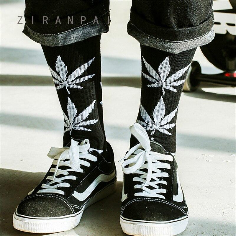 Men's Socks Winter Tube High Quality Harajuku Youth Style Weed Socks Men's Cotton Hip Hop Socks Men's Meias Men's Calcetines