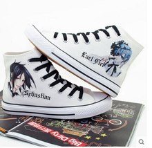 Black Butler Ciel&Sebastian Canvas Shoes