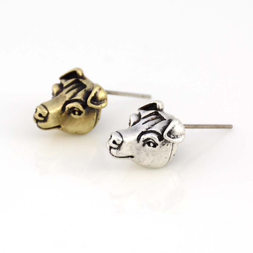 Vintage Punk Jack Russell Dog Stud Earring Dogs Brincos Love Earrings For Women Men Jewelry Black Friday Deals Christmas Gift