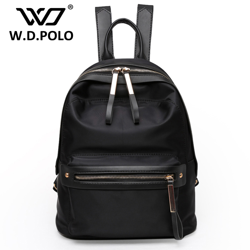 WDPOLO Fashion single Backpack High Quality Rope School bags Laptop Backpack Female Travel Bagpack student book bags C013 objective ielts advanced student s book with cd rom