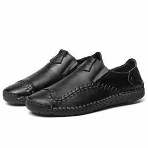 Image 3 - Męskie skórzane mieszkania projekt modne buty w stylu casual dla mężczyzn 2019 New Arrival mężczyźni mieszkania obuwie męskie mokasyny mokasyny
