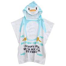 100% Cotton Baby Beach Gown Child Bathrobe Beach Towels Cloak Cape Infant  Cartoon Animal Hooded Baby Bath Towel (penguin) 7db7942ac