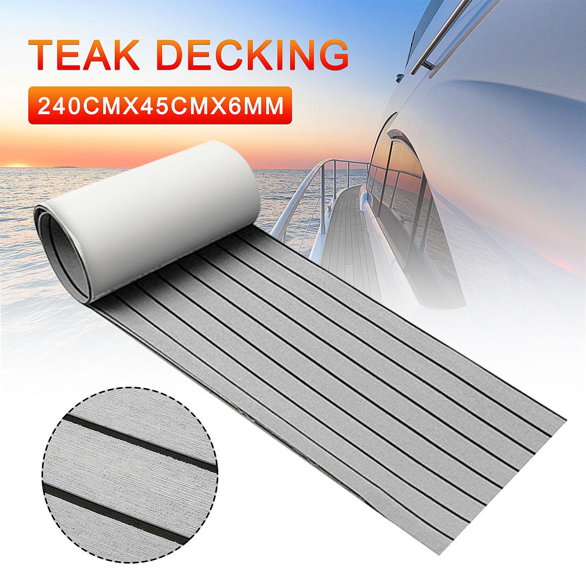 240x45cm Self Adhesive EVA Foam Floor Mat For Marine Boat Yacht RV Foam Teak Deck Sheet Boat Synthetic Foam Floor Mat Carpet