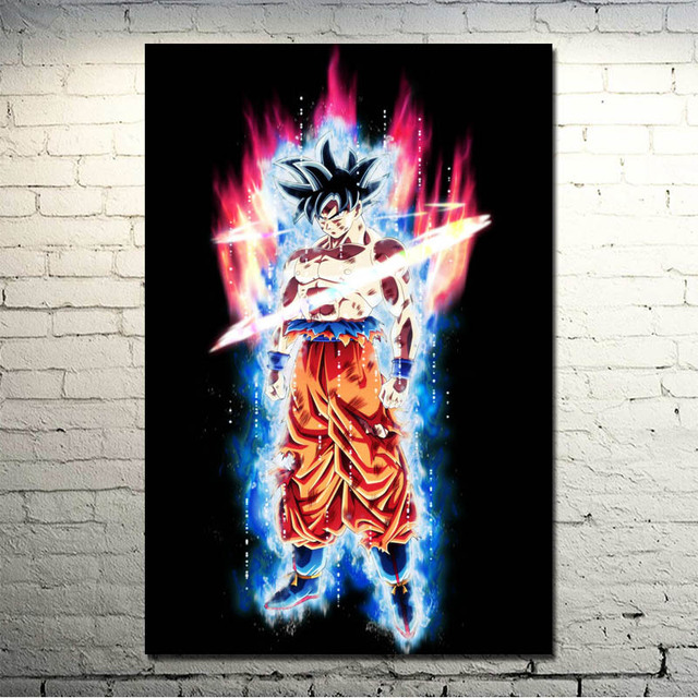 Dragon Ball Z – Goku Fighting Art Silk Canvas Poster 13×20 32×48 inch