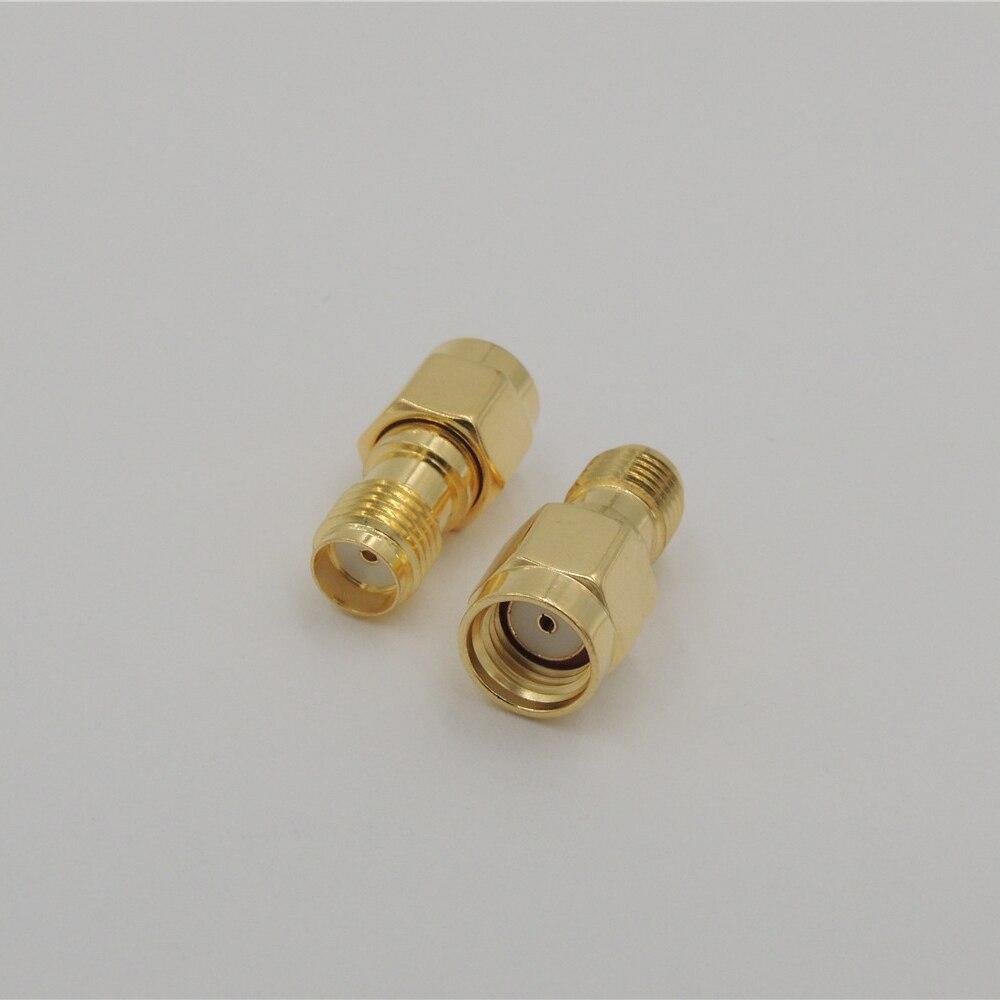 100pcs lot adapter rp sma male plug to sma female jack plug Straight Long Version RF