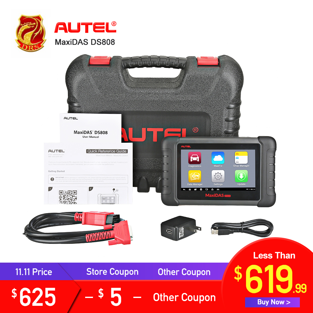 Autel MaxiDAS DS808 Upgraded of DS708 Auto Diagnostic Tool OBD2 Scanner with Key Coding Same Function as MS906 Analysis System autel maxidas ds808 full system car diagnostic k upgrade version of ds708 ds808 ecu coding tool with all obd obd2 adapters