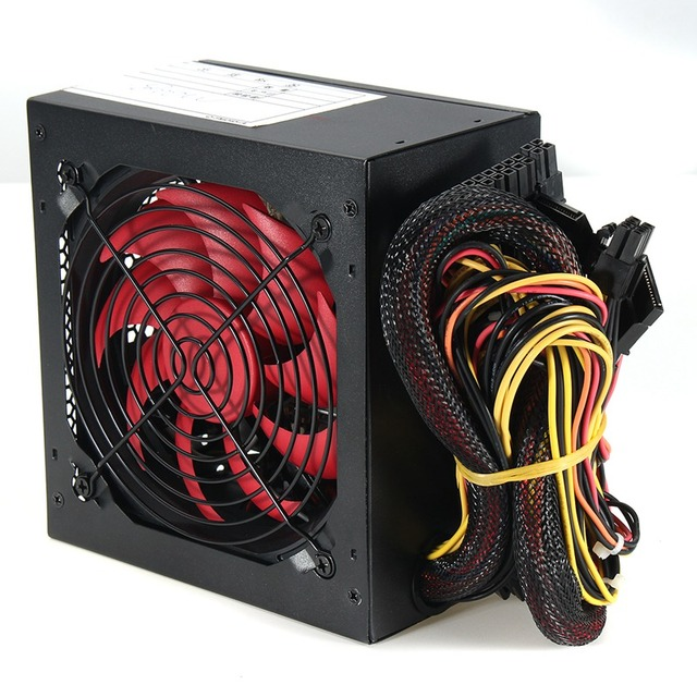 Quiet 800 Watt 800W for Intel AMD PC 12V ATX PC Power Supply 4
