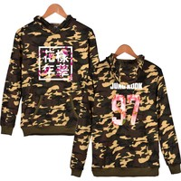 New Bangtan Boys Kpop BTS Camouflage Hoodie Sweatshirt Print Kpop BTS Band Men Hoodies J Hope