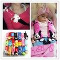 2 unids Minnie Mouse para Niños Cinturón De Seguridad Del Asiento de Felpa cubierta del cinturón de seguridad del Amortiguador Del arnés Hombrera Coche