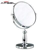AFSEL Alla Moda Doppio fronte 8 Pollice trucco desktop mirror 3X di ingrandimento Specchio Cosmetico Bagno Rotonda Specchio Ad Alta Definizione