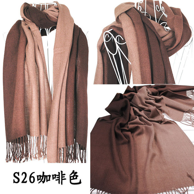 2014 Brand New Women's Fashion Long large Soft Shawl Stole Cashmere Scarf Gradient scarf wraps W4193