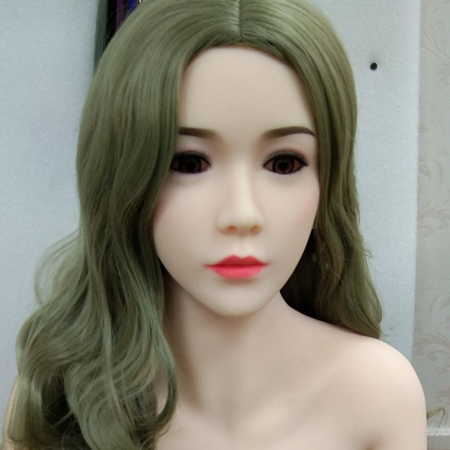 #37 oral silicone sex doll head for big size love dolls 135cm/140cm/148cm/153cm/152cm/155cm/158cm/163cm/165cm/170cm golden hair green eyes tpe sex doll head oral sex can use on 152cm 155cm 165cm doll for men oral sex