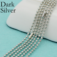 50 pcs - Antique Silver Colore Ball Chain Necklace, 24 Inch, 30 Inch Chain, Plated Bead Necklace