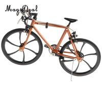 1/10 Scale Simulation Alloy Diecast Racing Exquisite Bike Sport Bicycle Model Hobbies Games Toy Collections Home Decor Orange